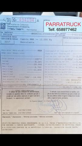 MAN VOLQUETE - 18. 272 6 CILINDROS - foto 7