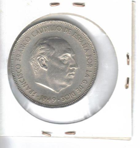 Moneda De  5 Ptas.  De  1949*50  (Ebc)