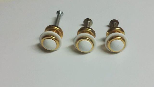 3 Iradores Blancos Y Metal Dorado