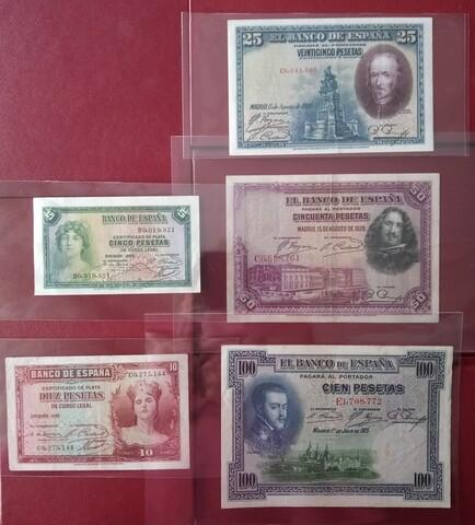 Lote 4 Billetes Antiguos