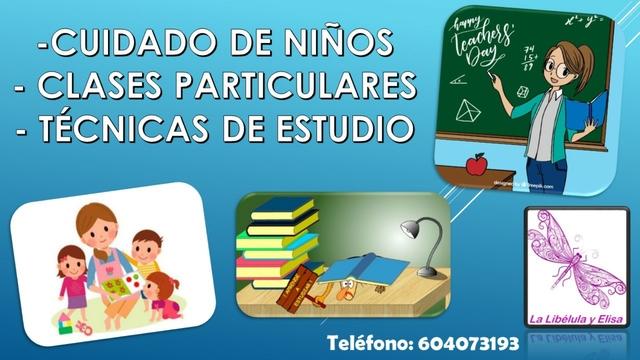 CUIDADO DE NIÑ@S Y/O CLASES PARTICULARES - foto 1