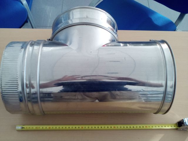 TE CHIMENEA INOX-INOX 90º DIÁMETR 150 MM - foto 1