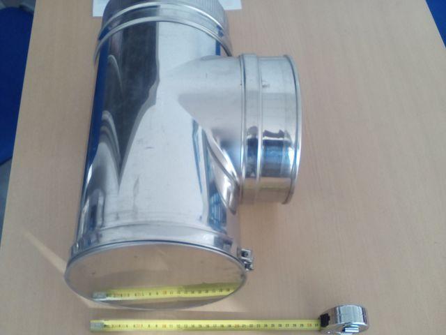 TE CHIMENEA INOX-INOX 90º DIÁMETR 150 MM - foto 2