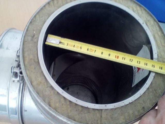 TE CHIMENEA INOX-INOX 90º DIÁMETR 150 MM - foto 3