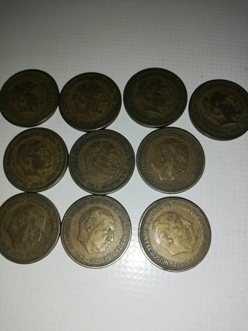 10 Monedas De 2,50 Pesetas 1953 Estrella