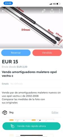 VENDO AMORTIGUADORES MALETERO OPEL VECTR - foto 1
