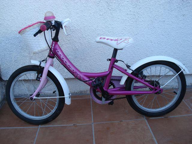 Bicicleta Marca Bpro Niña De 16 Pulgadas