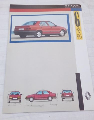 FOLLETO COMERCIAL RENAULT 19 CHAMADE - foto 1