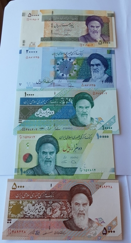 Billetes De Iran Facial Alto.