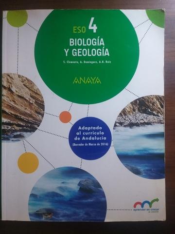 Mil Anuncios Com Libro De Biología Y Geología De 4 Eso