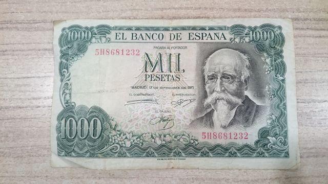 1000 Pesetas De Echegaray