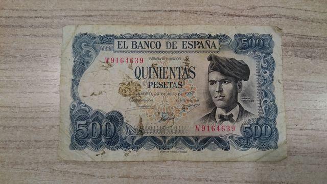 500 Pesetas De Jacinto Verdaguer