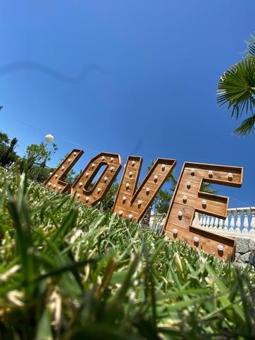 LETRAS LOVE BOMBILLAS VINTAGE ALQUILER - foto 2