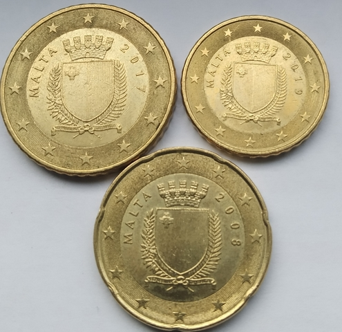 Monedas  10 20 50 Céntimos De Euro Malta