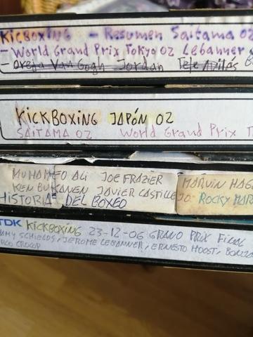 VENDO 4 CINTAS VHS BOXEO Y K1 - foto 1