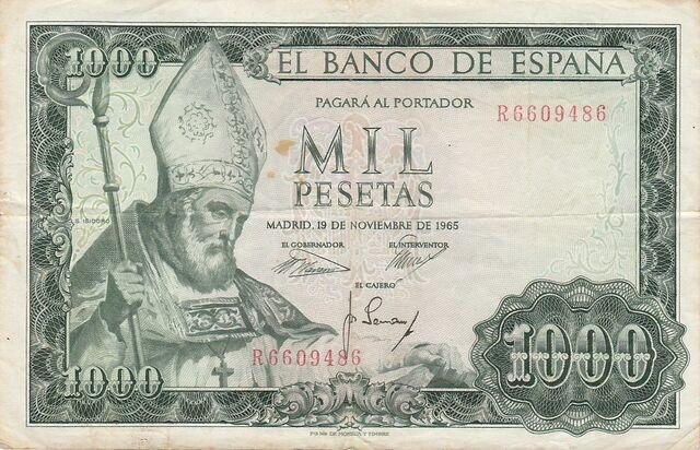 1000 Pesetas De S. Isidoro