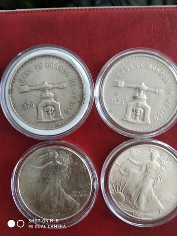 Lote Monedas 1 Onza Plata