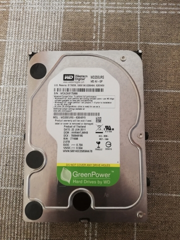 HDD WESTERN GREEN 2TB - foto 2