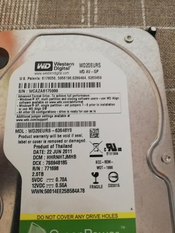 HDD WESTERN GREEN 2TB - foto 3