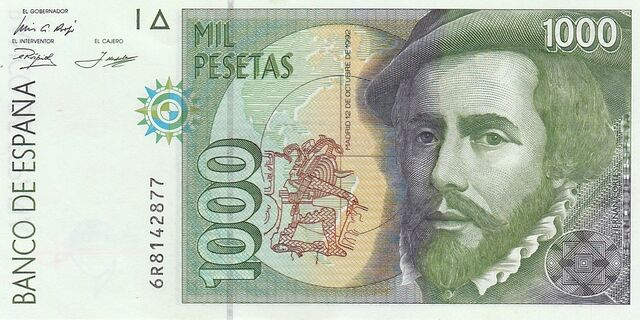 Billete 1000 Pesetas Francisco Pizarro