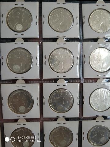 Lote 10 Monedas De 12 Euros Plata 2002