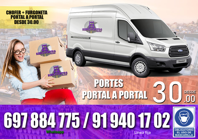 PORTES MUDANZAS ECONOMICAS BARATAS - foto 3