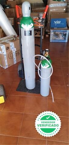 Botella Bombona Argon 8 L + Manometro