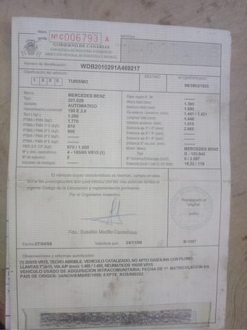 MERCEDES 190,  2. 6CC GASOLINA,  AUTOMATICO - foto 4
