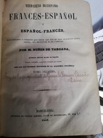 DICCIONARIO ESPAÑOL-FRANCÉS AÑO 1957 - foto 1