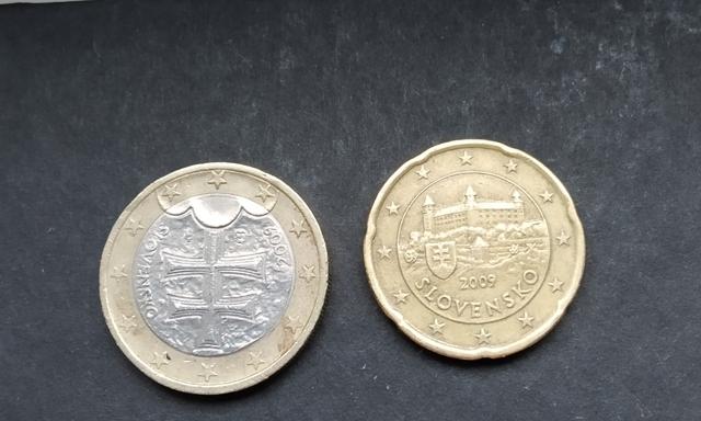 Monedas De 1 Euro Eslovaquia