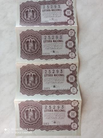 BILLETES COMPLETOS DE 1953 Y 1954 - foto 2