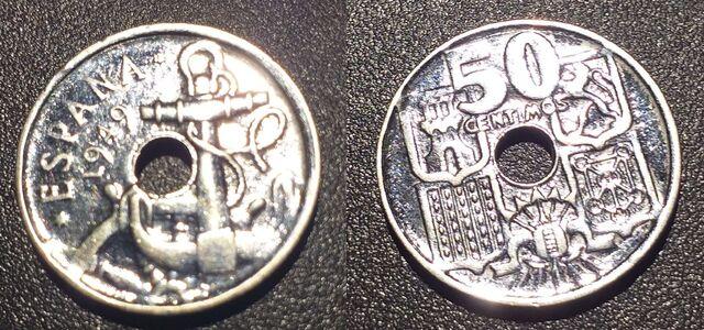 50 Ctm, 1949 Nueva