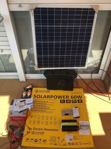 Kit Solar Panel+Baria+Regulador+Inverso