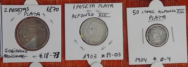 Lote De Monedas De Plata Antiguas