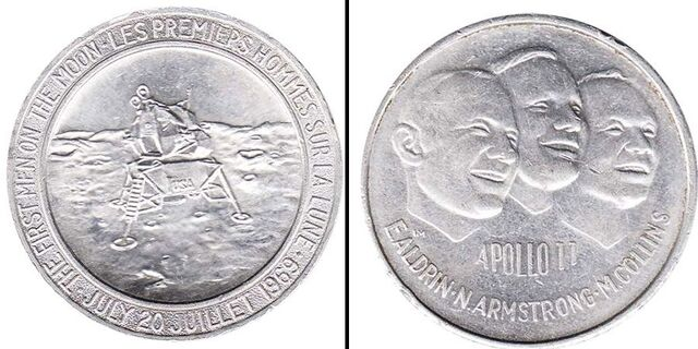 Vendo Moneda Aluminio Apollo 11