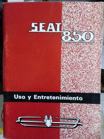 LIBRO MANTENIMIENTO SEAT 850 - foto 1