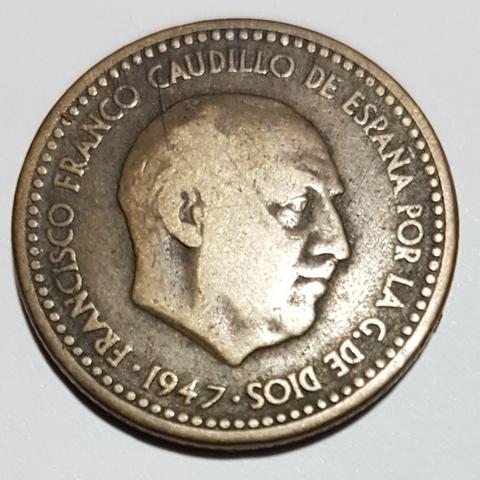 1 Peseta Año 1947 *49
