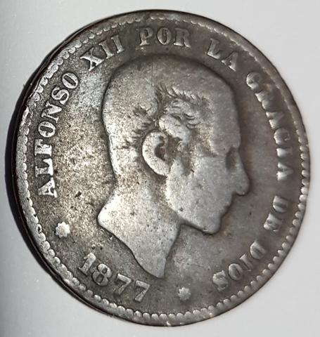 5 Céntimos Año 1877.