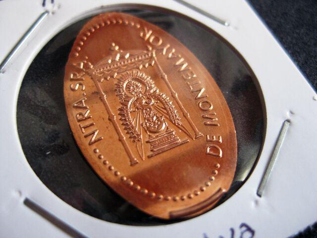 MONEDA ELONGADA VIRGEN DE MONTEMAYOR - foto 2