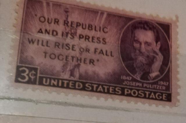 Antiguo Sello Postal De Usa 3 Cents