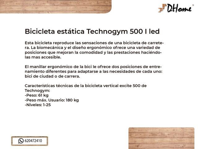 BICICLETA ESTATICA TECHNOGYM 500 I LED - foto 3