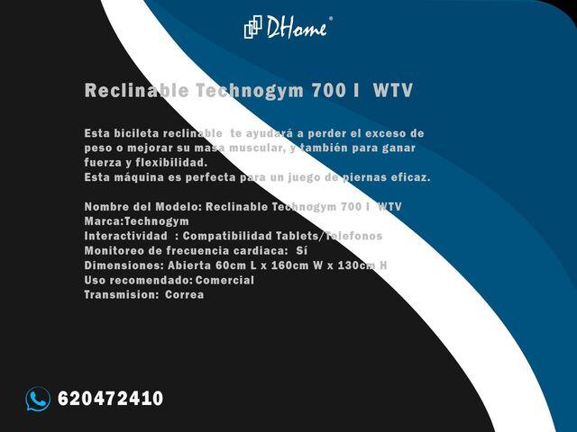 BICICLETA RECLINABLE TECHNOGYM 700 I WTV - foto 3