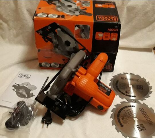 Sierra Circular Black+Decker Cs1250 W