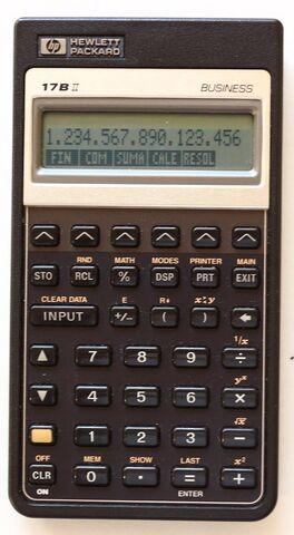 Calculadora Financiera Hp 17Bii