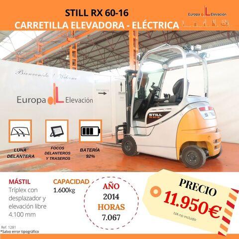 CARRETILLA STILL ELÉCTRICA BATERÍA 92% - foto 1