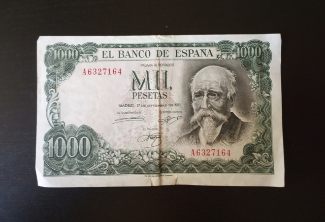 1971 Billete Mil Pesetas