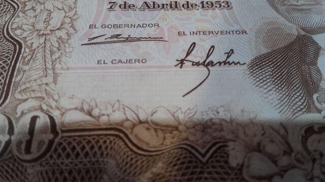Error De Billete De 100 Pesetas De 1953.