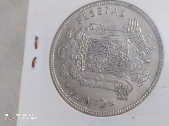 Moneda Cinco Pesetas 1949