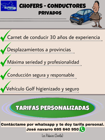 58.  PORTES - CHOFER CONDUCTOR PRIVADO - foto 2