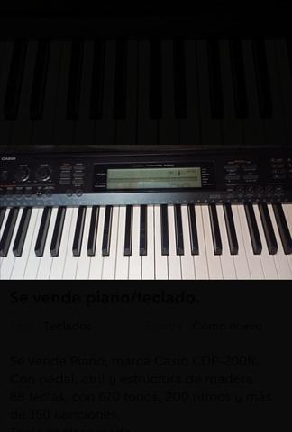 SE VENDE PIANO/TECLADO - foto 5